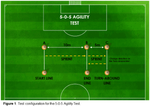 Figure 1 - Test configuration for the 5-0-5 agility test