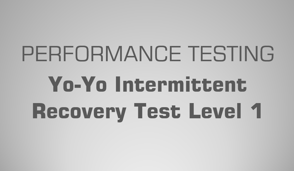 Yo Yo Intermittent Recovery Test Level 1 Science For Sport