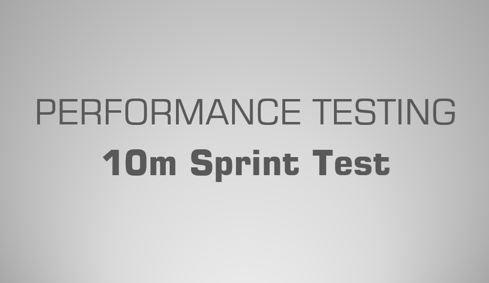 10m Sprint Test - Science for Sport