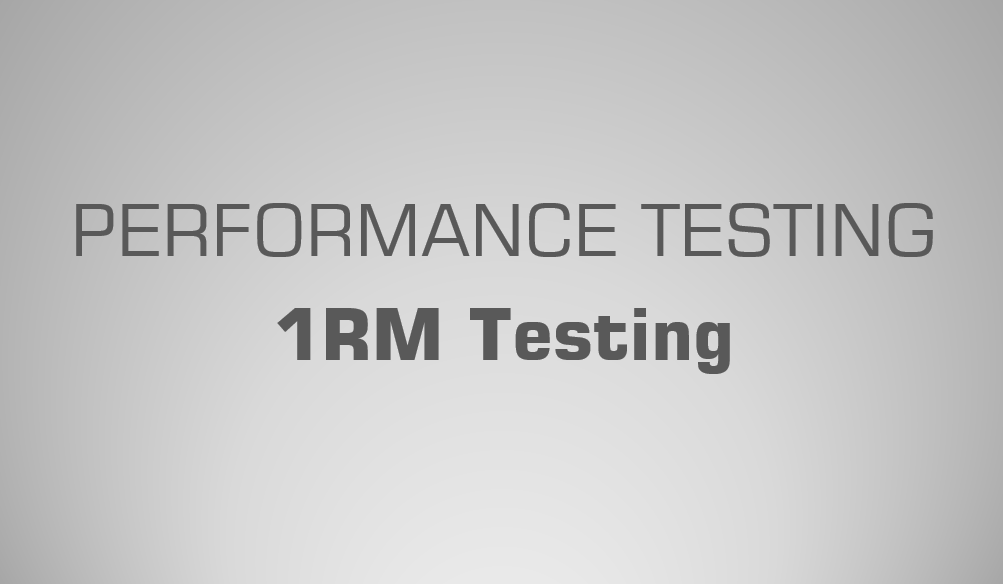 1RM Testing | Science for Sport