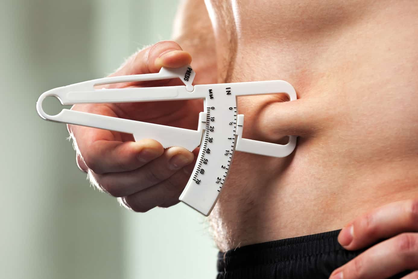 body fat percentage caliper test