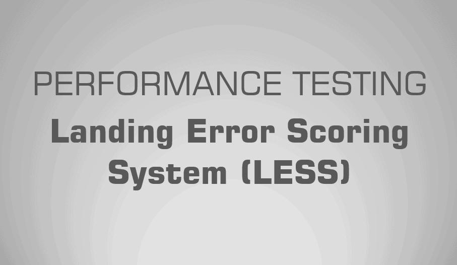 Landing Error Scoring System (LESS) | Science for Sport