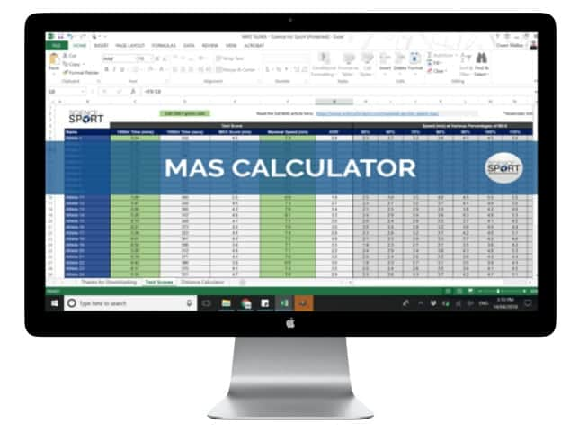 MAS Calculator - Science for Sport